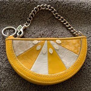 Coach 'lemon' coin purse.